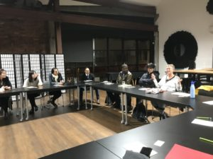 Pictures from Founders Round Table live Mastermind event June 2019 about Growing locally for a Global Market