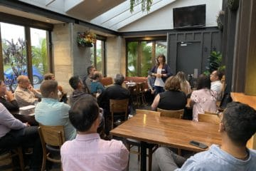 Photos from our East Auckland Event in March 2020 featuring Monique Brandley and Pete Ward. Business Strategy Networking.