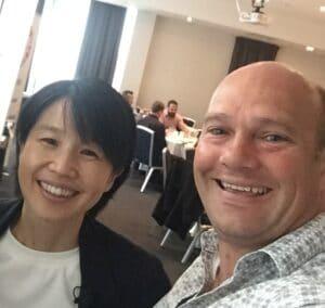 Grant Finer with Masami Sato - CEO B1G1