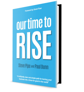 Time to Rise book on angle