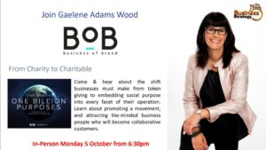 Gaelene Adams Wood - From Charity to Charitable - Business of Brand
