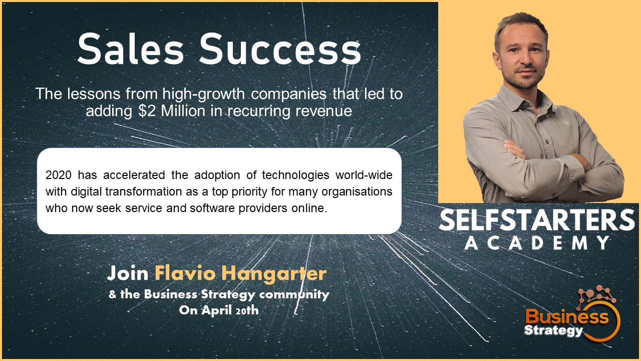 Sales Success - Lessons from high-growth companies adding $2M recurring revenue