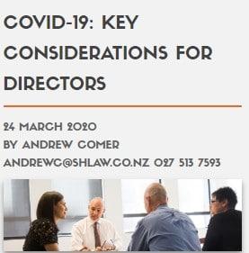 COVID-19: KEY CONSIDERATIONS FOR DIRECTORS