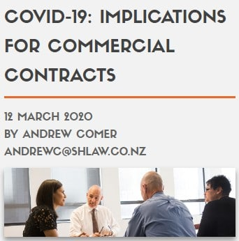 COVID-19: IMPLICATIONS FOR COMMERCIAL CONTRACTS